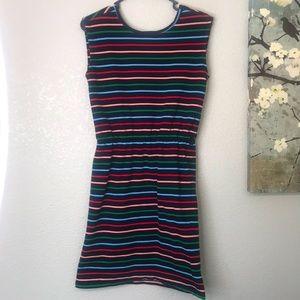 Sugarhill Multicolor Stripe Knit Dress Sz Small 2